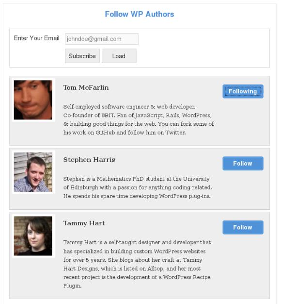 Simple WordPress Plugin To Follow Your Favorite Authors