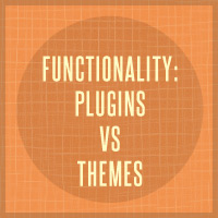 Link toFunctionality: plugins vs themes