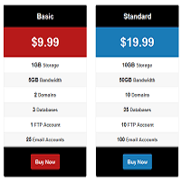 Pricing table plugin