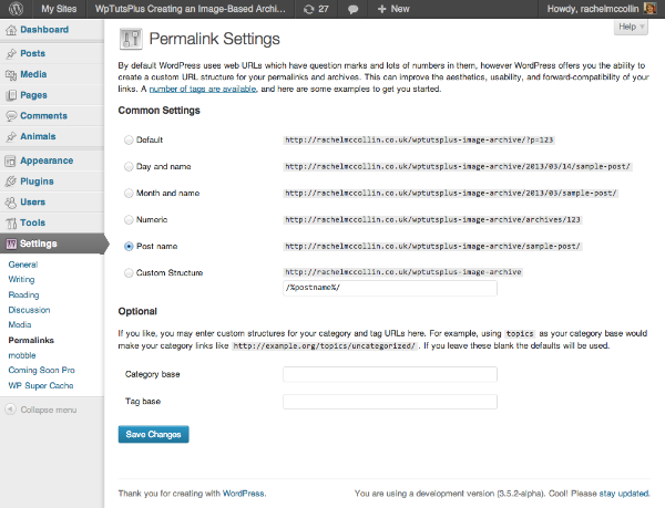 Change permlainks settings to enable pretty permalinks