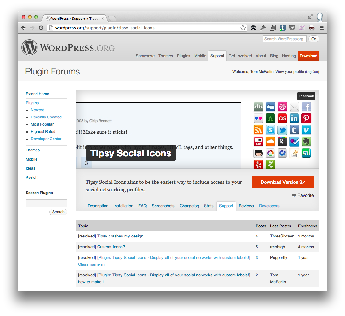 WordPress Plugin Repository Support