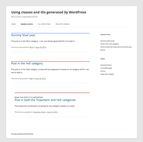 wordpress-generated-classes-IDs-6-category-styling