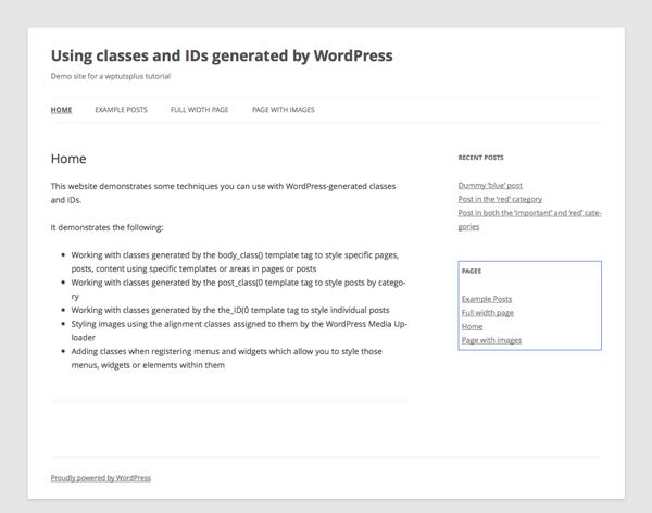 wordpress-generated-classes-IDs-8-styling-menus