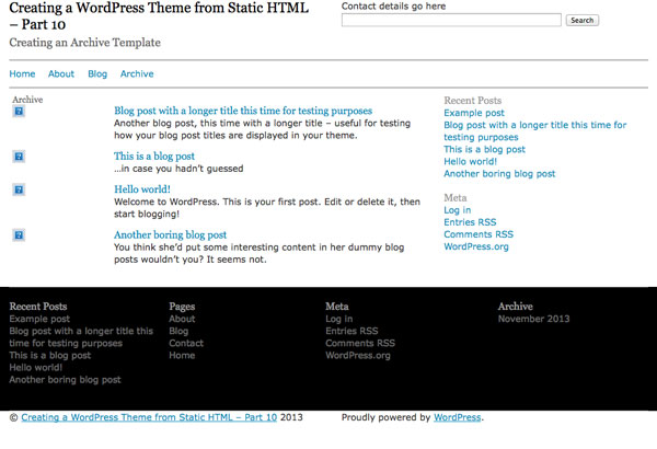creating-wordpress-theme-from-static-html-archive-template