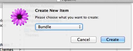TextMate Create Bundle