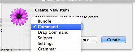 TextMate Create Command