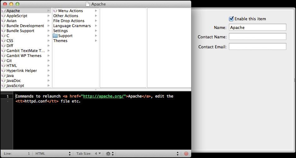 TextMate Edit Bundle Window