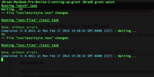 grunt watch compile