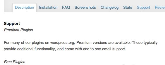WordPress Plugin Description