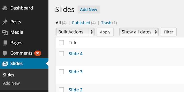 Slides Custom Post Type