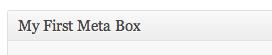 The Meta Box Title
