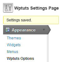 Preview for Using The Settings API: Part 1 - Create A Theme Options Page