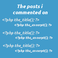 Link toCreating a custom 'the posts i commented on' loop