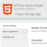 Preview for HTML5 WordPress Music Player & Settings Page Integration