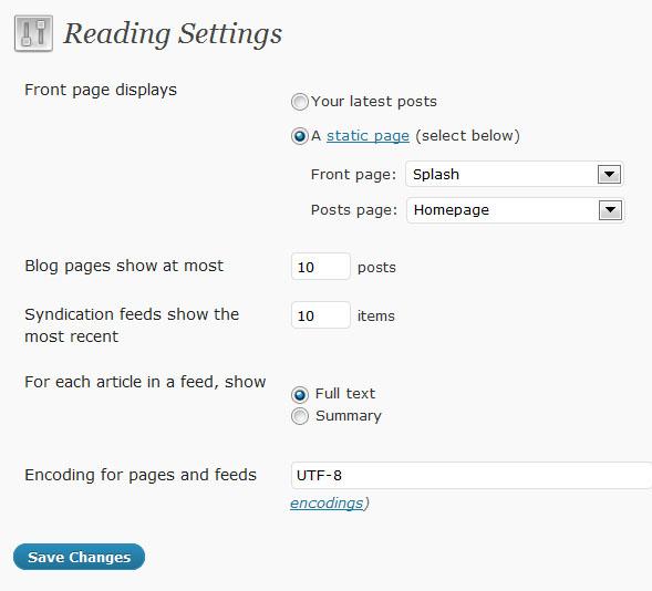 Wordpress Splash Page Plugin