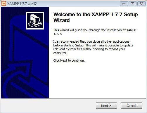 Installing Xampp Step 1