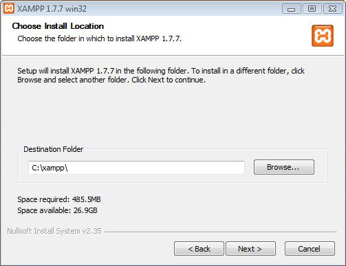 Installing Xampp Step 2