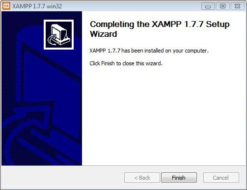 Installing Xampp Step 5