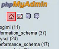 phpmyAdmin Home Button