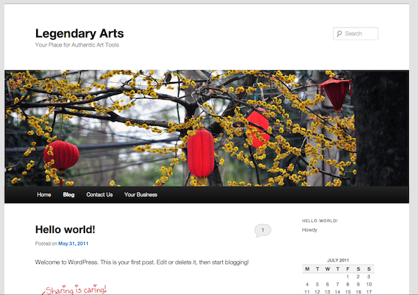 The WordPress 3.2 Default Theme