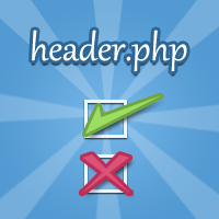 Link toThe header.php - what needs to go in it and what doesn't