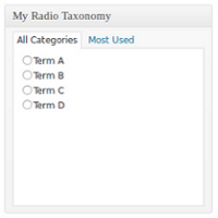 Preview for How to Use Radio Buttons With Taxonomies