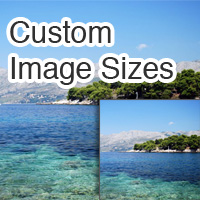 Custom image sizes