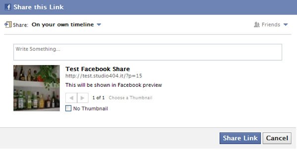 And Once You Click The Share On Facebook Link This Will Be The Facebook Preview Window