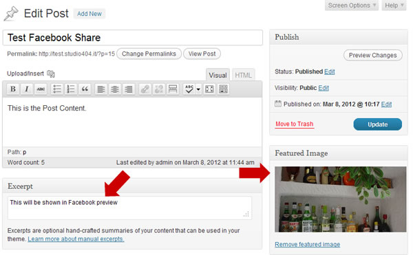 Share Your Posts on Facebook With a Preview Image and a