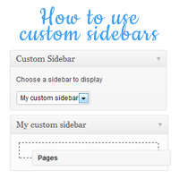 Link toHow to use custom sidebars on posts and pages
