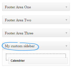 Add widgets to custom sidebars