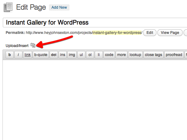 cai dat gallery trong page hoặc post wordpress