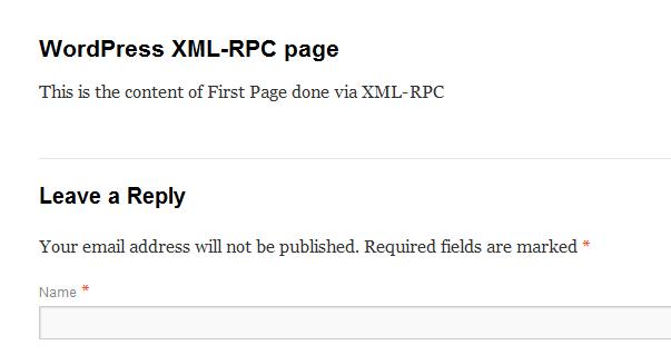 XML-RPC in WordPress
