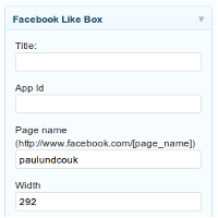 Facebook like box 200x200