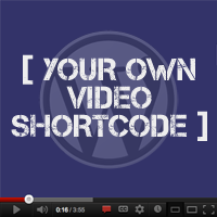 Preview your own video shortcode