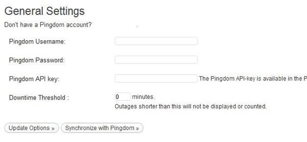 Pingdom settings