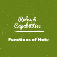 Link toWordpress roles and capabilities: functions of note